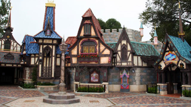 PHOTO: Fantasy Faire, a storybook village square and the latest expansion of Fantasyland at Disneyland Park, opened March 12, 2013 in Anaheim, California.