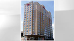 PHOTO: The Hilton Garden Inn is the home of delegates from Nevada during the 2012 Democratic National Convention in Charlotte, N.C.
