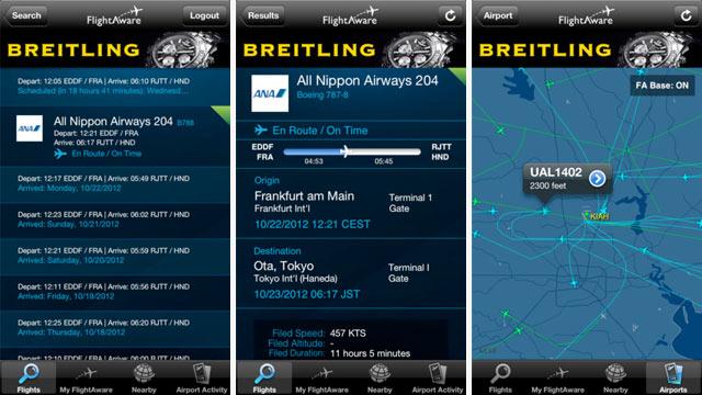PHOTO: FlightAware Flight Tracker
