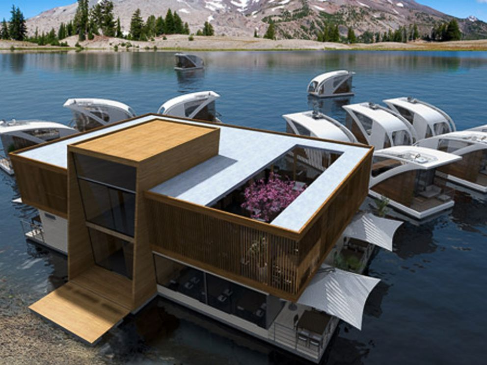 PHOTO: The floating hotel allows catamaran suites to independently float and dock wherever the best waterfront view permits.