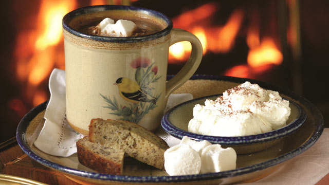 PHOTO:Hot Cocoa service at the Blantyre in Lenox, Mass.