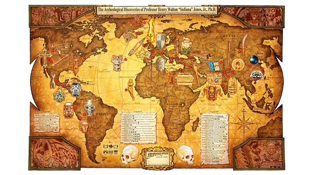 PHOTO: Photographer & artist Matt Buschs photos of his Indiana Jones World Map.