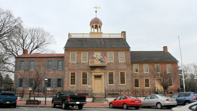 PHOTO: The New Castle Court House Museum, in New Castle, Delaware. It is part of the First State National Monument.