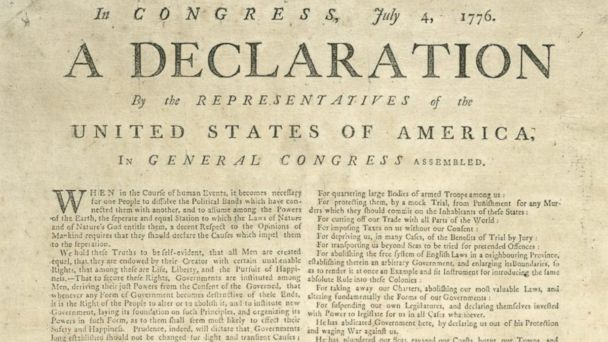 PHOTO: Declaration of Independence