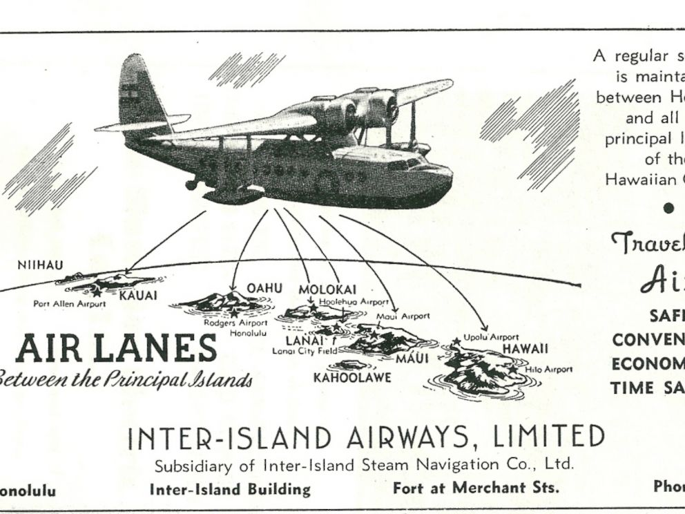 PHOTO: Interisland flights: Hawaiis first Neighbor Island jet service with 85-passenger DC 9 10s flew in 1966.