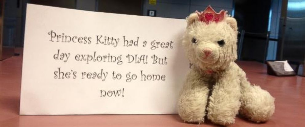 PHOTO: The lost and found staff and social media team of Denver International Airport took Princess Kitty on a tour of the airport before returning her to her owner.