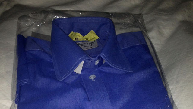 PHOTO: Freshly-pressed and boxed shirts from the dry cleaners