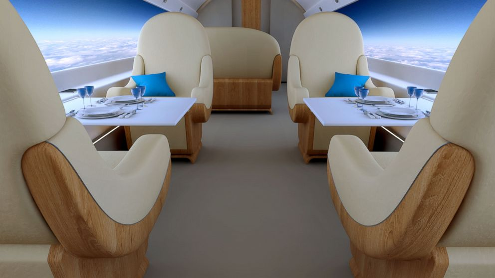 Pictured is a S-512 Supersonic Jet interior.