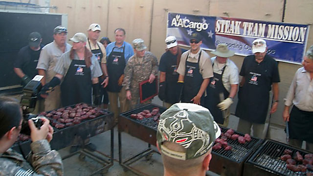 PHOTO Steak Team Mission prepares and serves steak dinners to soldiers in harms way to remote and hazardous areas determined by date and location by the US Military.