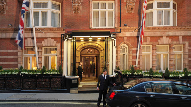 PHOTO: Seen here in this file photo is the outside of the Stafford Hotel in London England.