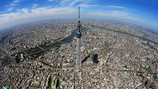 PHOTO: The 2080-foot Tokyo Skytree is the highest free-standing broadcast tower in the world, as confirmed by the Guinness Book.