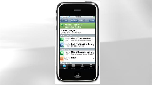 PHOTO: TripIt's mobile app