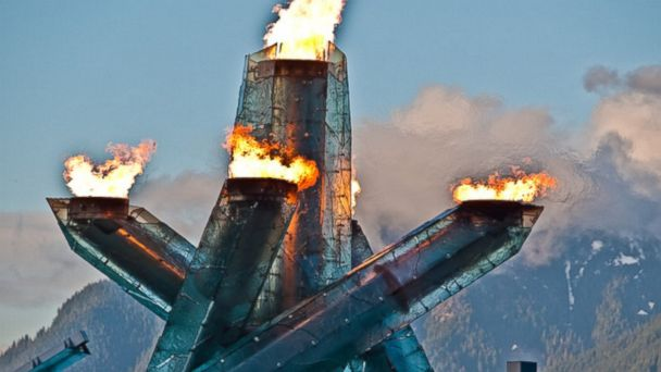 Vancouver Olympic Cauldron, Gastown, Vancouver, BC, Canada