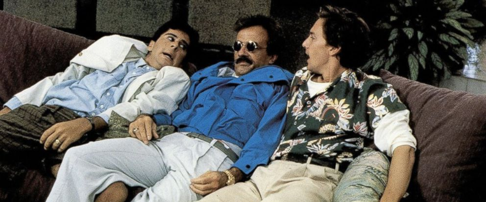 """PHOTO: Jonathan Silverman, Terry Kiser, and Andrew McCarthy star in the 1989 film """"Weekend at Bernies."""""""