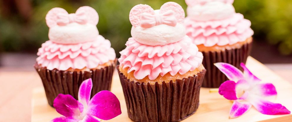 PHOTO: Found at Capt. Cook's, this vanilla cupcake is filled with guava cream and topped with buttercream icing and fondant Minnie ears.