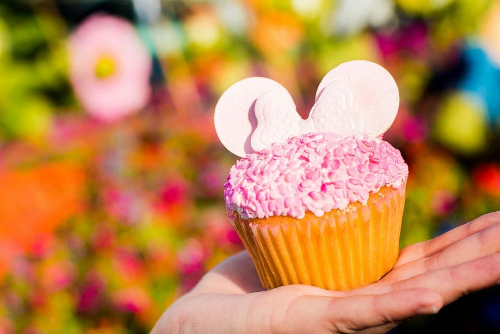 PHOTO: This fabulous vanilla cupcake is filled with strawberry pastry cream and topped with vanilla buttercream and fondant Minnie ears.