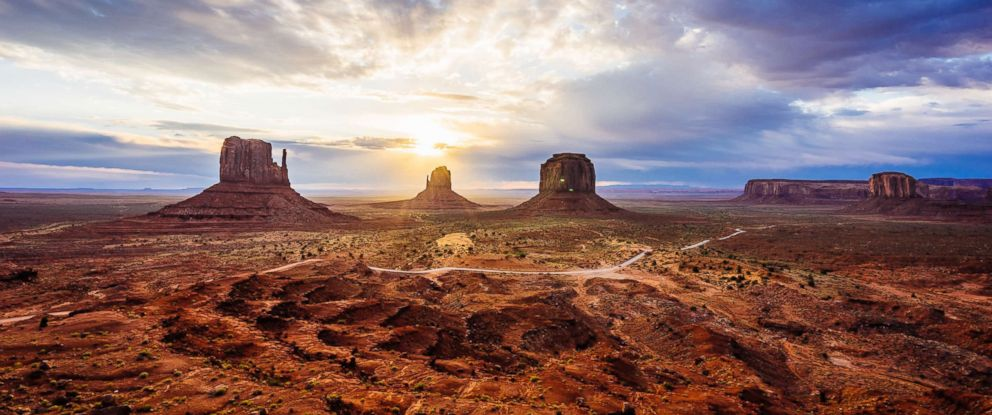 PHOTO: The sunrise is pictured in Monument Valley in this undated stock photo.