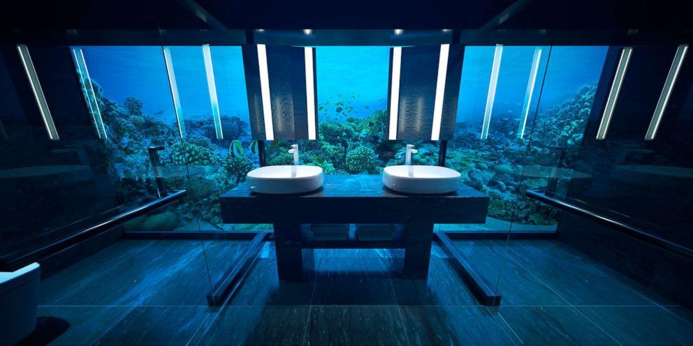 The undersea bedroom floor sits 16.4 feet below sea level.