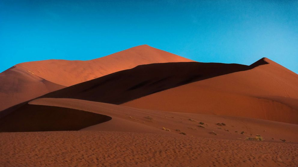 PHOTO: Sand dunes are pictured in the Namib desert, Sossusvlei area in Namibia.