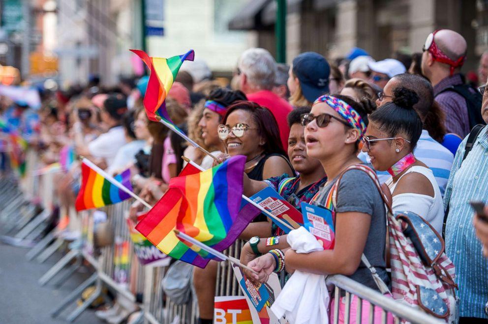 PHOTO: Spectators during the New York City Pride 2017, June 25, 2017, in New York City.