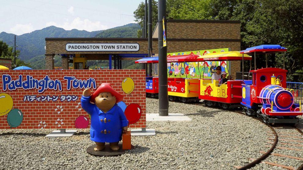 Guests enjoy Paddington Town, the world's first amusement theme park based on Britain's popular Paddington Bear character, in Sagamihara, Japan, July 21, 2018.