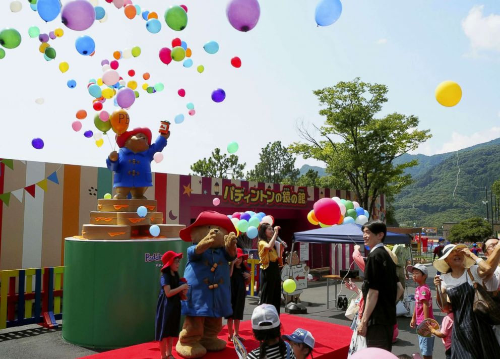 PHOTO: Guests enjoy Paddington Town, the worlds first amusement theme park based on Britains popular Paddington Bear character, in Sagamihara, Japan, July 21, 2018.