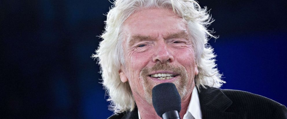 PHOTO: Billionaire Richard Branson, founder and president of Virgin Atlantic Airways Ltd., speaks during a discussion at the Goldman Sachs 10,000 Small Businesses Summit in Washington, Feb. 13, 2018.