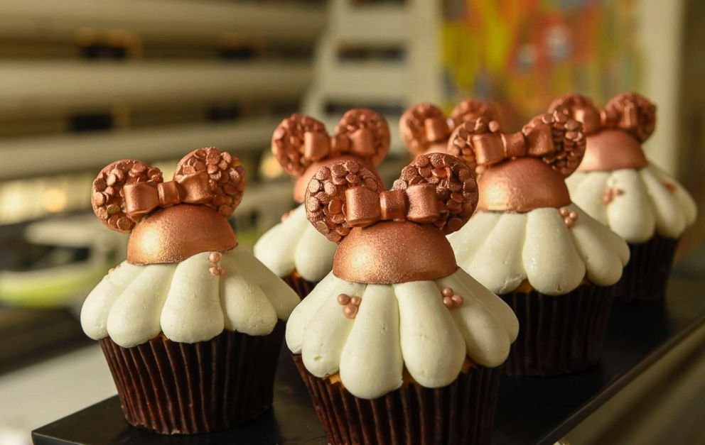PHOTO: Rose gold cupcakes are popular at Disney.