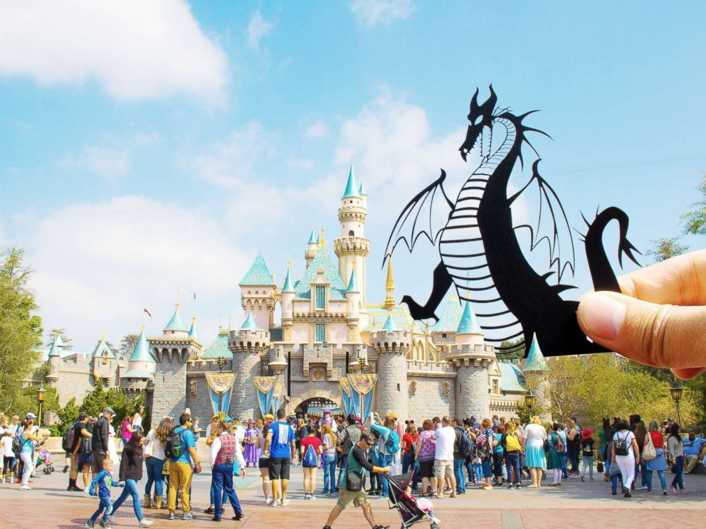 PHOTO: Paper art is pictured at Disneyland, Calif.