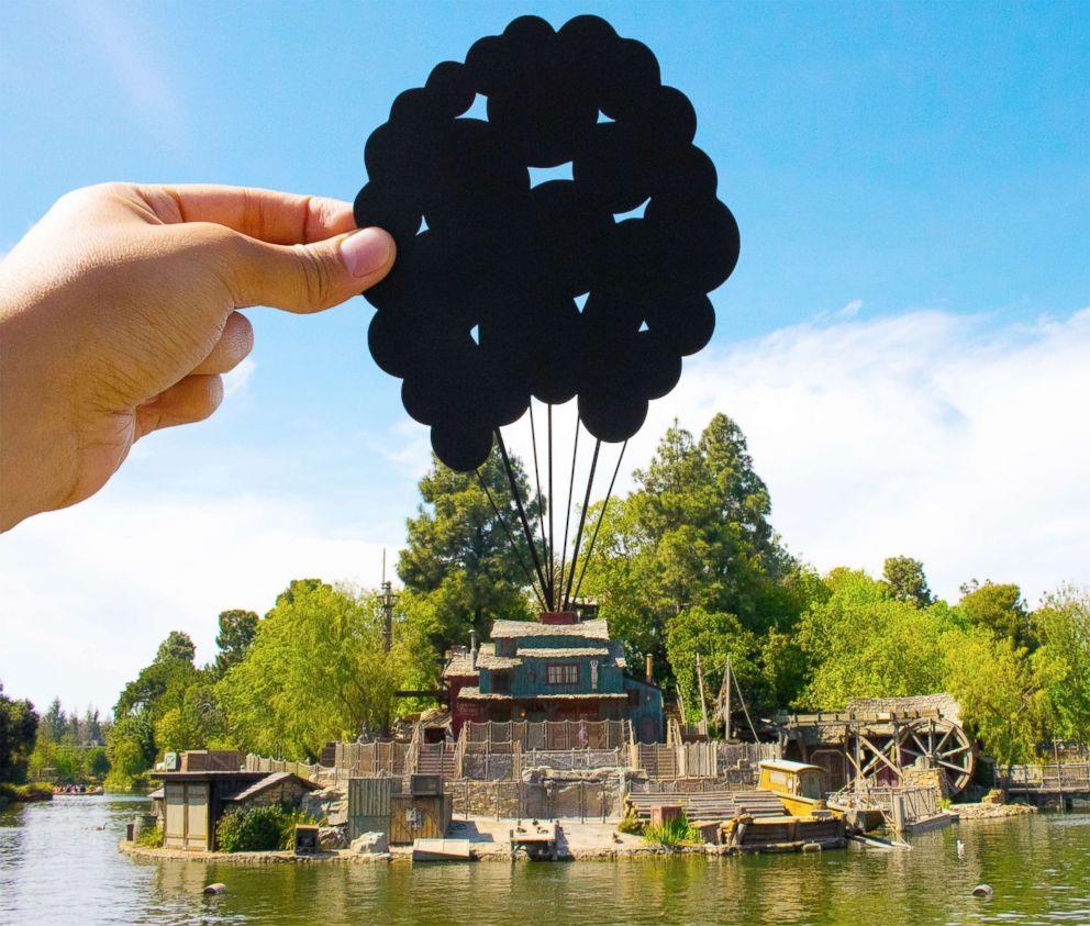 PHOTO: Paper art is pictured in Disneyland.