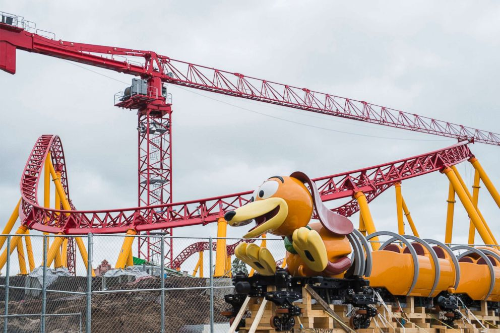 PHOTO: The Slinky Dog Dash ride arrives at Disney's Hollywood Studios.