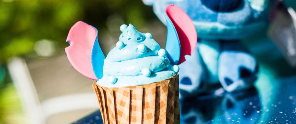 PHOTO: The new Stitch cupcake is available at Disney's All Star Resort at Walt Disney World.