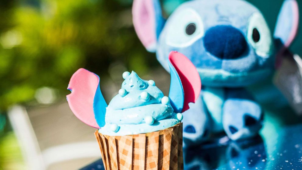 The new 'Stitch' cupcake is available at Disney's All Star Resort at Walt Disney World.