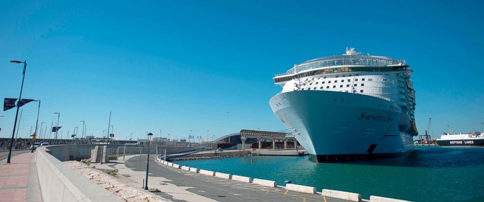 "PHOTO: Royal Caribbeans ""Symphony of the Seas"" is presented in Malaga, Spain, March 27, 2018."