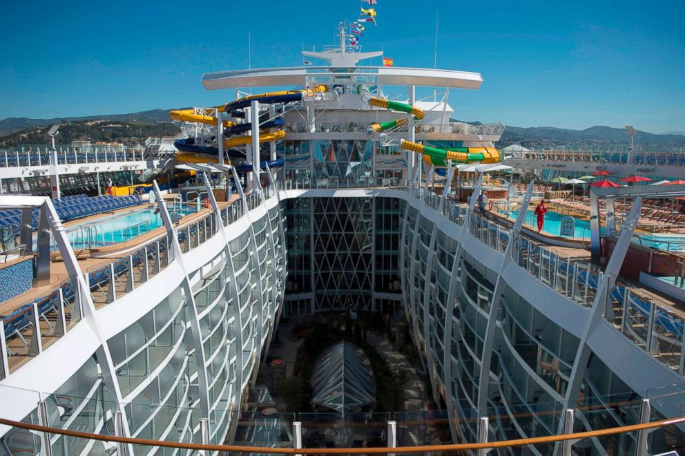 """Royal Caribbean's """"Symphony of the Seas"""" is presented in Malaga, Spain, March 27, 2018."""