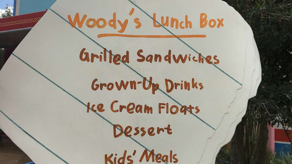 All the food you cannot miss at Woody's Lunch Box at Toy Story Land
