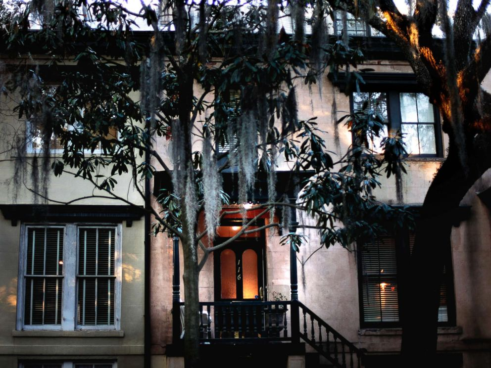 PHOTO: A front door is illuminated at dusk in the historic district of Savannah, Ga., Feb. 21, 2011.