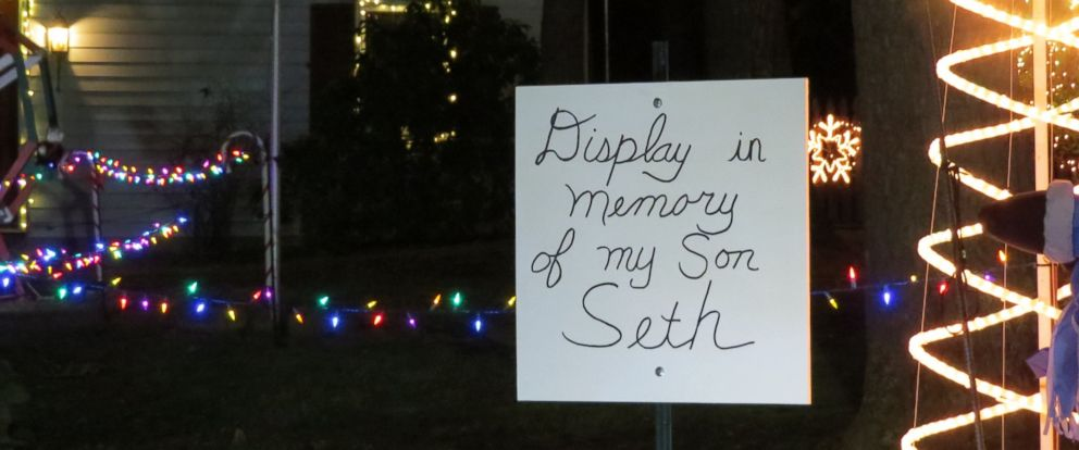PHOTO:Donald Webb dedicated his annual Christmas display to his late son, Seth, who died in October.