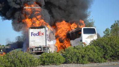 Deadly Bus Crash on California Highway Video - ABC News