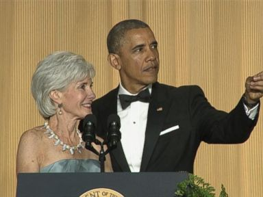 Kathleen Sebeliuss White House Correspondents Dinner Cameo