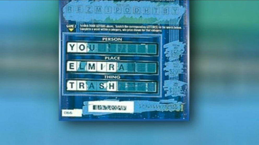 Elmira, New York, Man Says Lottery Ticket Read, 'You Elmira Trash