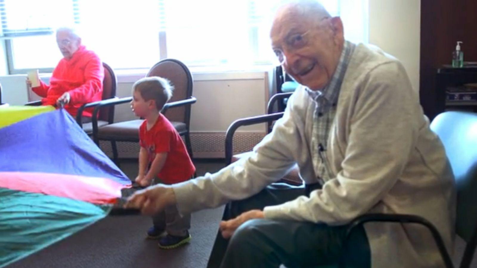 seattle preschool in a nursing home transforms elderly residents abc news