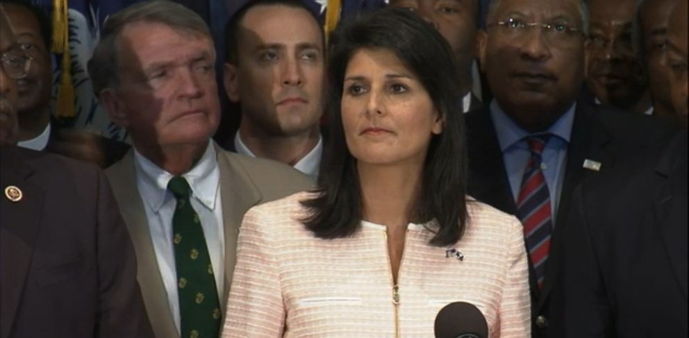 VIDEO: The South Carolina governor asked that the Confederate battle flag be removed from the state capitol in the wake of the shootings at Emanuel AME church.