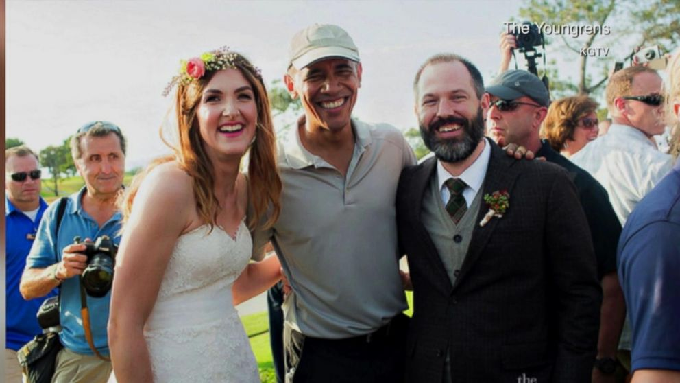 Inside Obama's Wedding-Crasher Moment on San Diego Golf Course