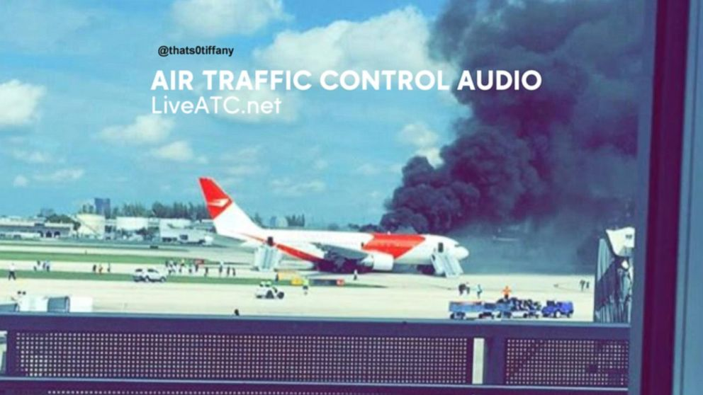 Plane Catches Fire at Fort Lauderdale International Airport