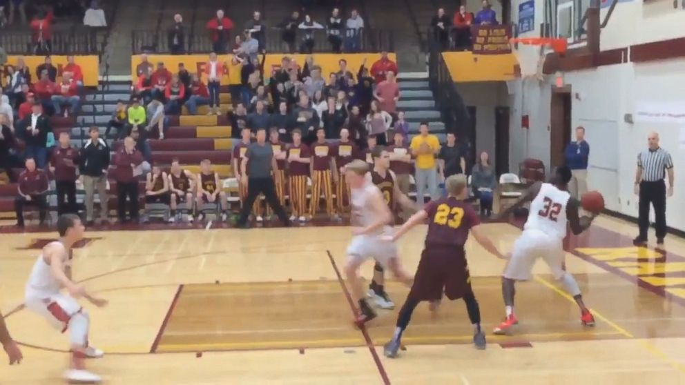 See Minnesota Hs Basketball Player Score Shot From Other End Of Court Just Before Game Ends Abc News