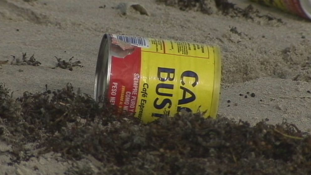 Hundreds of Yellow Coffee Cans Mysteriously Wash Ashore Beach in Indialantic, Florida