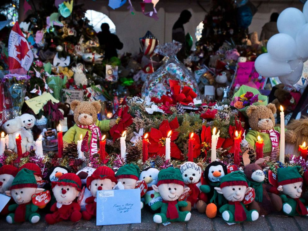 PHOTO: A memorial for those killed in the school shooting at Sandy Hook Elementary School is seen on Dec. 24, 2012, in Newtown, Conn.