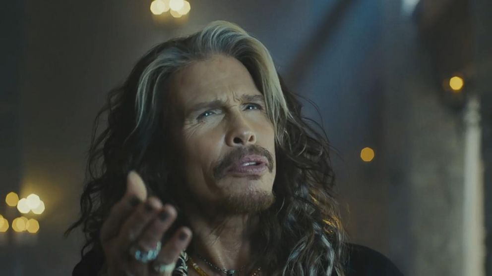 VIDEO: The Aerosmith front man gets his own portrait made of multi-colored candies in this Super Bowl commercial.