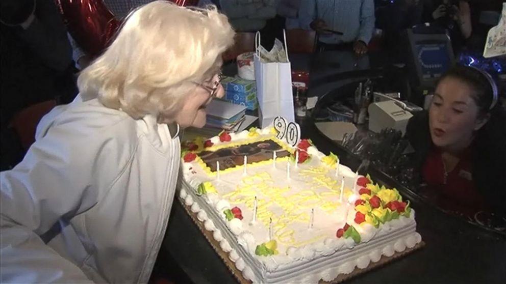 90 Year Old Applebees Waitress Gets Surprise Celebration